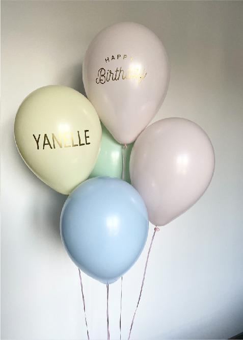 Bouquet de ballons pastel