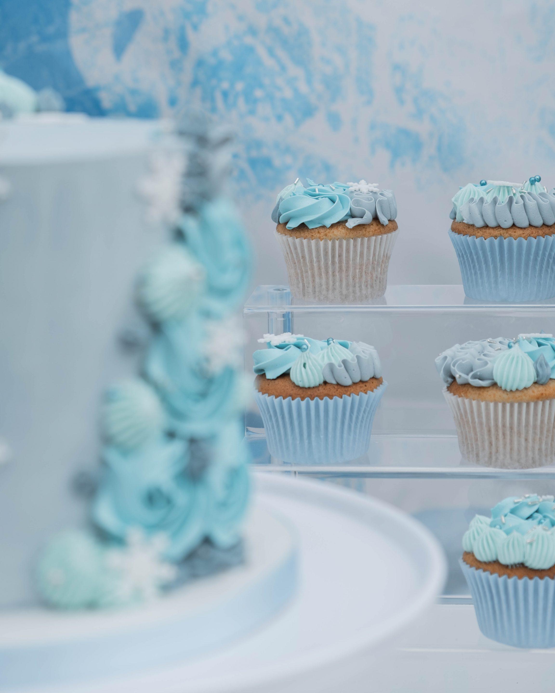 Cup cakes évènement Reine des neiges organisé par Pils event