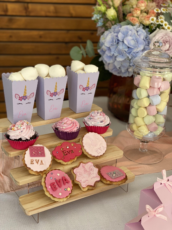 Sweet table évènement petite fille autour du thème licorne